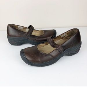 Keen Palermo Mary Jane Brown Leather Comfort Shoes